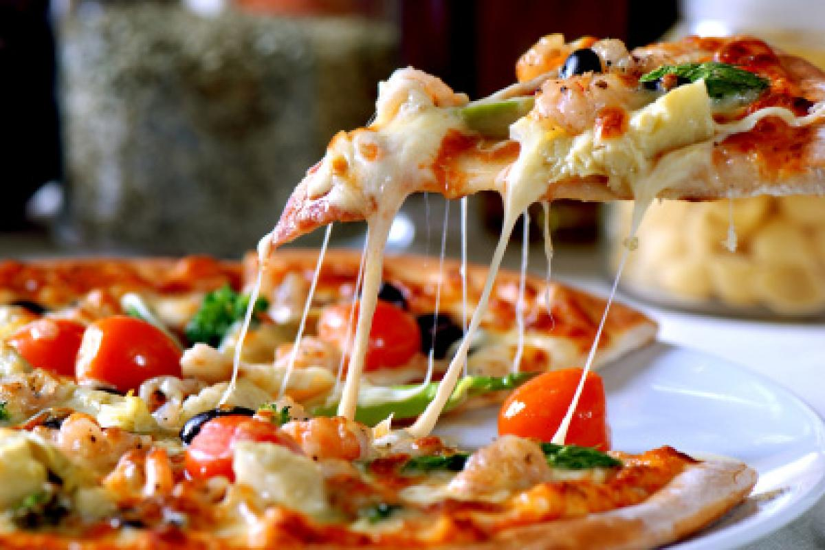 A healthier pizza