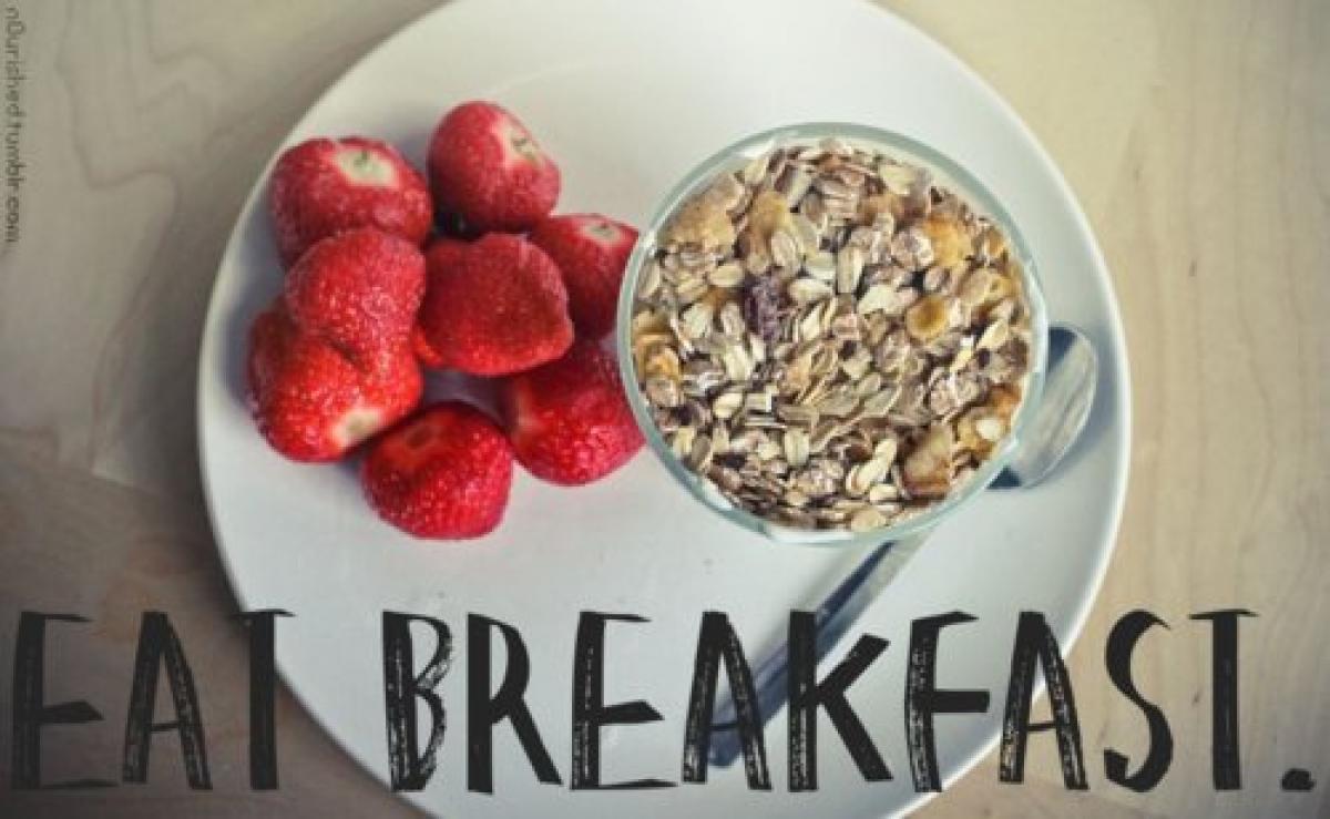 Never skip your breakfast!!