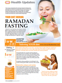 Your Diet during Ramadan fasting